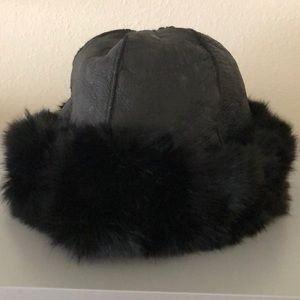 Leather and Fur Vintage hat